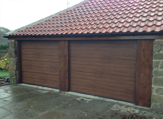 Double garage doors in Rotherham