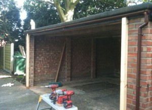 Before picture of an externally fitted roller garage door - Kellington
