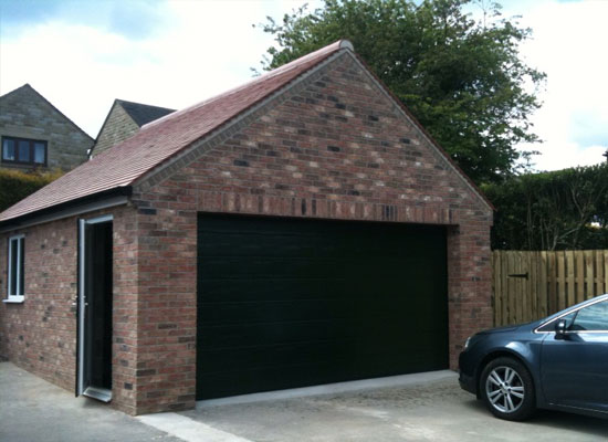 Double Rosewood Automatic Garage Door