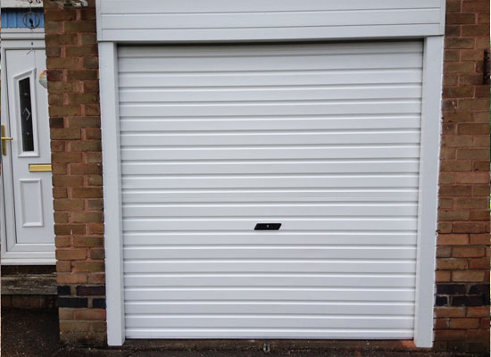 White roller garage door fitted