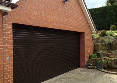 Insulated roller garage door installation