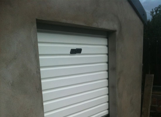 Small roller garage door