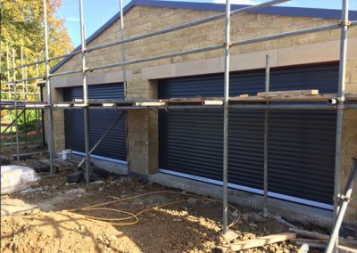 Recently installed garage doors