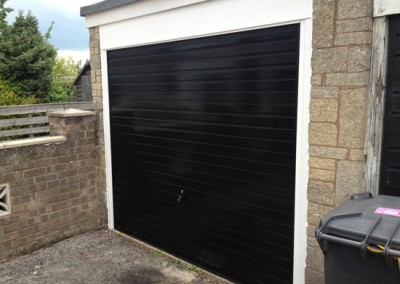 Hormann garage door in black installed in Sheffield