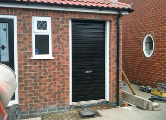 Narrow roller door installation – York